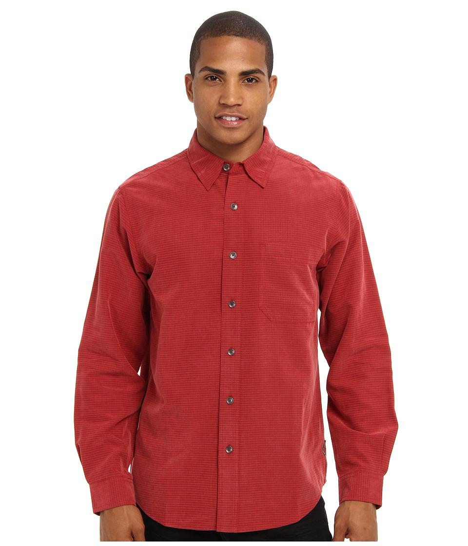 Royal Robbins - Desert Pucker (Dark Firecracker) Men's Long Sleeve Button Up