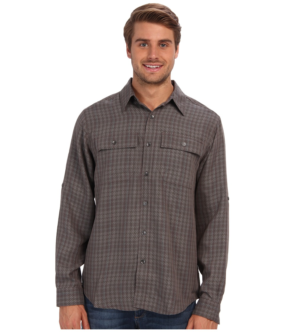 Royal Robbins - Teton L/S Shirt (Thunder) Men's Long Sleeve Button Up
