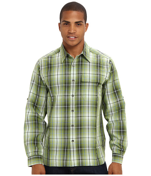 Royal Robbins - Plateau Plaid L/S Shirt (Evergreen) Men's Long Sleeve Button Up