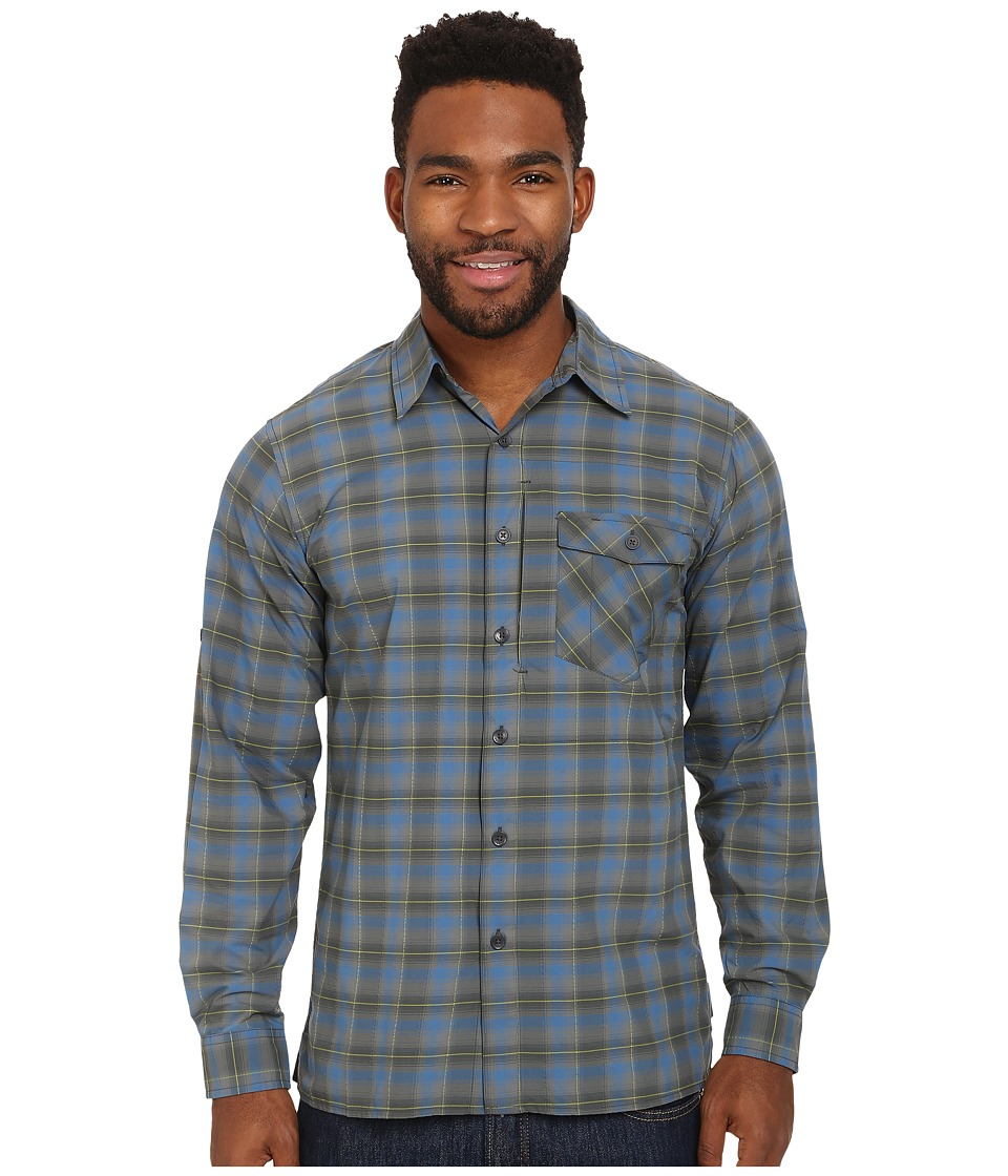 Royal Robbins - Slickrock L/S Shirt (Deep Blue Moon) Men's Long Sleeve Button Up