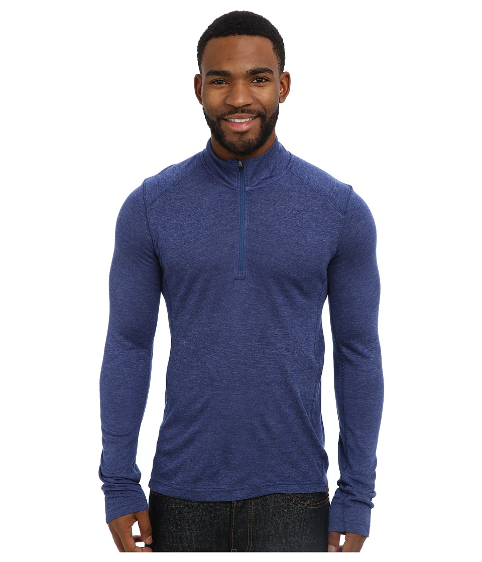 Royal Robbins - Mission Knit L/S 1/4 Zip (Deep Blue Moon) Men