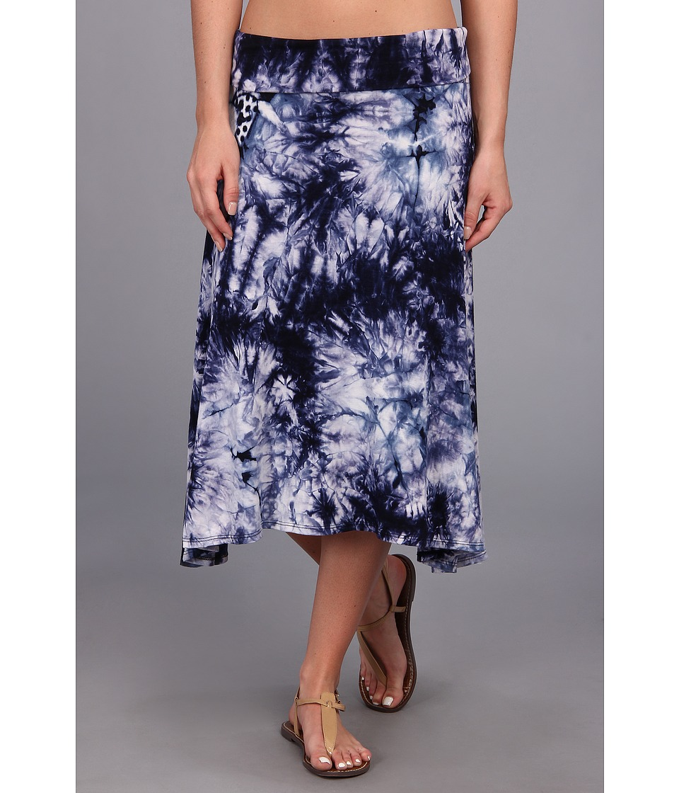 Culture Phit - Ali Fold Over Skirt (Blue Tye Dye) Women's Skirt