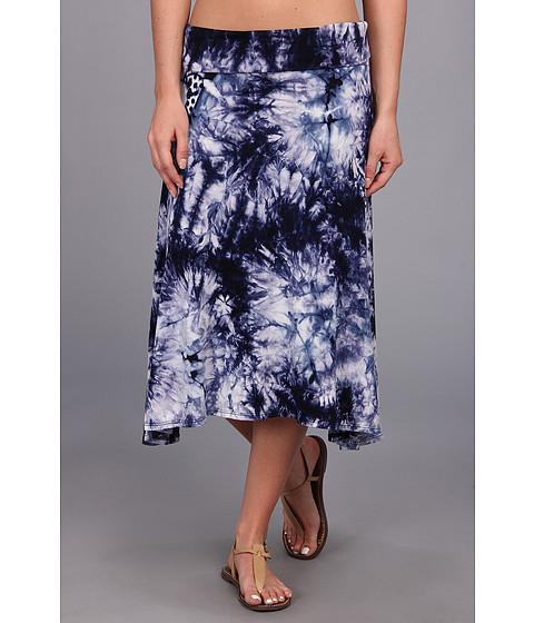 Culture Phit - Ali Fold Over Skirt (Blue Tye Dye) Women