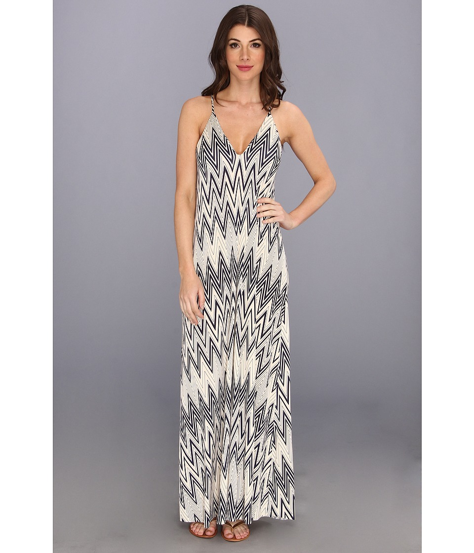 Tbags Los Angeles - Cami Strap Maxi Dress (CO5 Print) Women's Dress