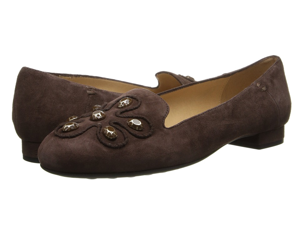 Sesto Meucci - Kloris (Dark Taupe Suede/Mtch Embroidery/Taupe Stones) Women's Shoes