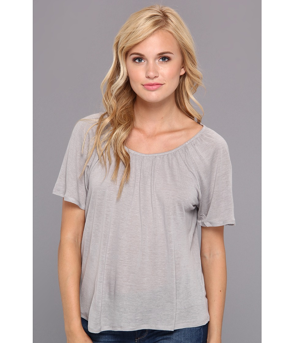 Chaser - Shirred Open Back Tee (Dust) Women
