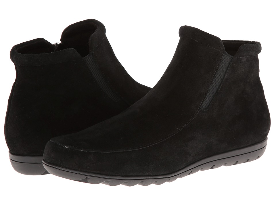 Vaneli - Annette (Black Nival Suede/Mtch Zip/Black SS Lining) Women's Shoes