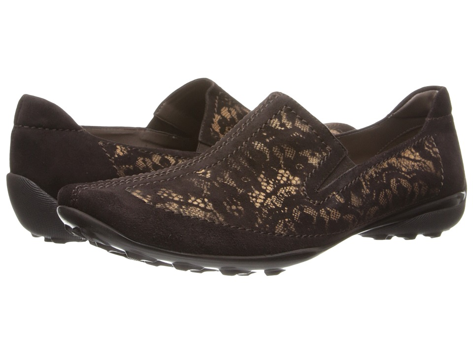 Sesto Meucci - Uriana (T.Moro Suede/Lace Print) Women's Slip on Shoes