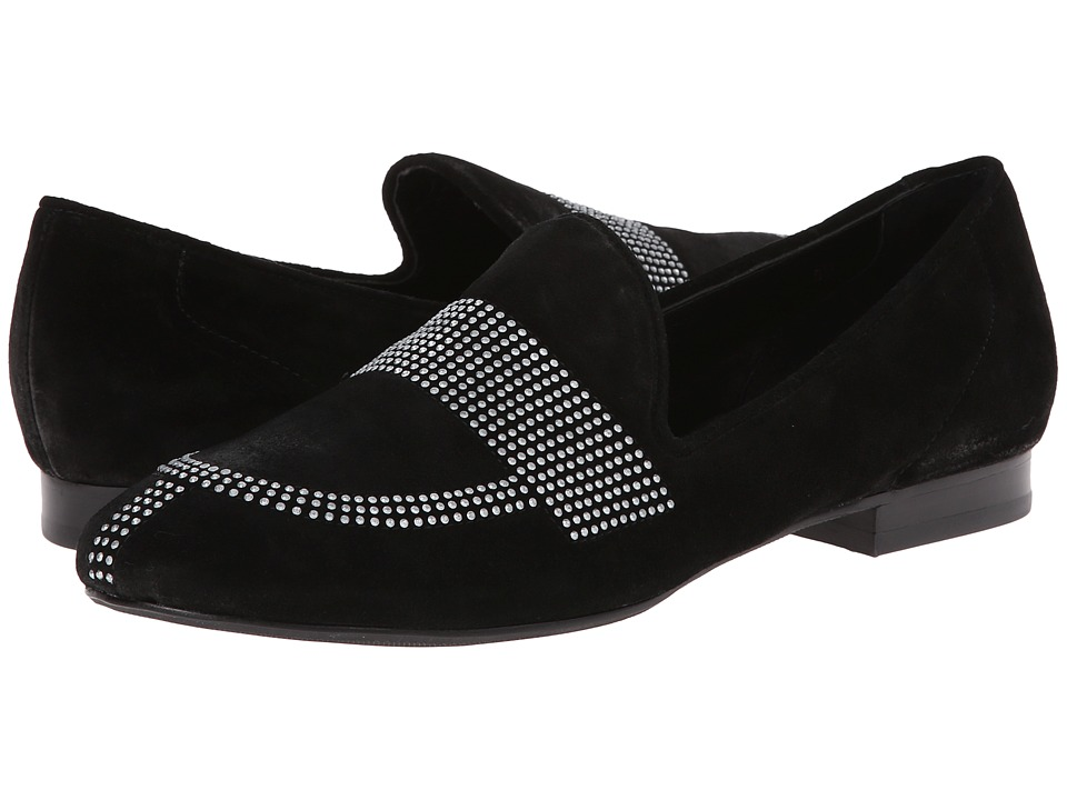 Vaneli - Fawne (Black Nival Suede/Ant Pewter Studs) Women's Shoes
