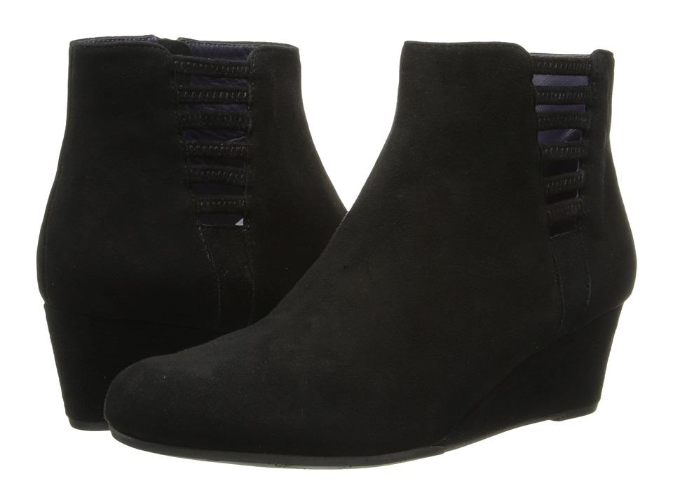 Vaneli - Laban (Black Suede/Mtch Zipper) Women's Shoes