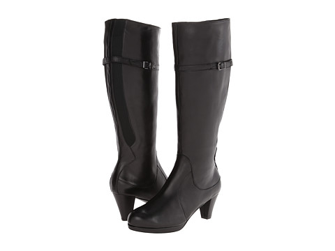 Vaneli - Larinda (Black Nappa/Mtch Elastic/Gunmetl Buckle) Women's Zip Boots