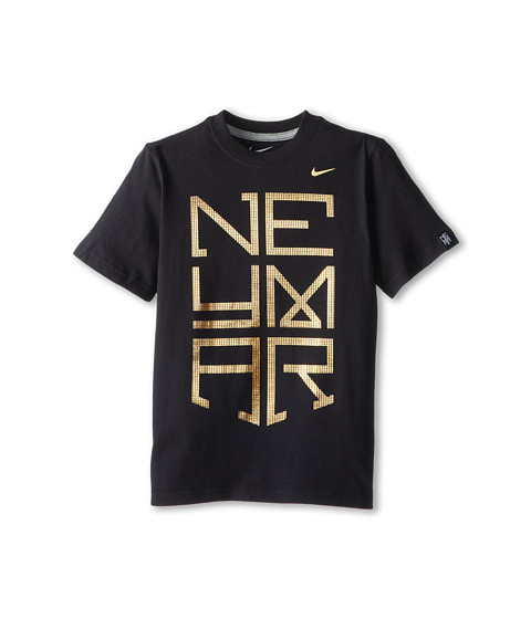 Nike Kids - Neymar Logo TD Tee (Little Kids/Big Kids) (Black/Dark Grey Heather) Boy