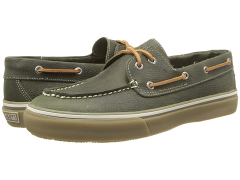 Sperry Top-Sider - Bahama 2-Eye Leather (Olive Leather) Men's Slip on Shoes