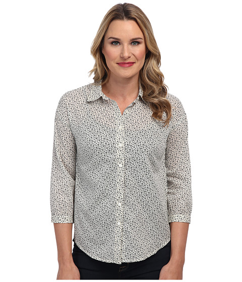 Dockers Misses - The Soft Blouse (Kristina Floral Cloud Cream) Women's Long Sleeve Button Up