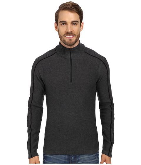 Royal Robbins - Fireside Wool 1/4 Zip Sweater (Charcoal) Men