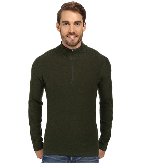 Royal Robbins - Fireside Wool 1/4 Zip Sweater (Galaxy Green) Men