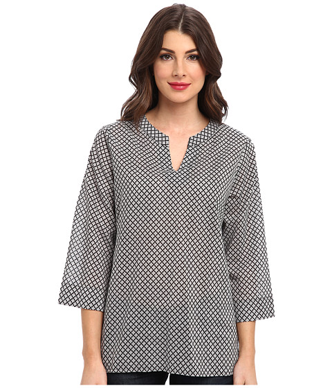 Dockers Misses - The Printed Tunic (Elizabeth Follaro Burma Grey) Women's Long Sleeve Pullover