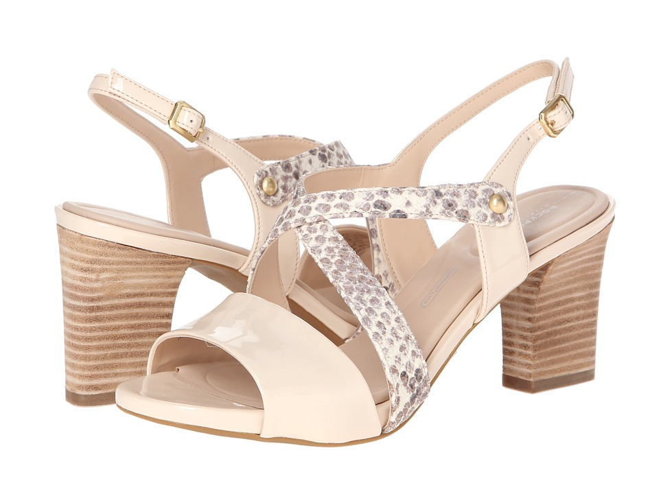 Rockport Seven to 7 Mid Heel Cross Band Sling (Python Print) Women