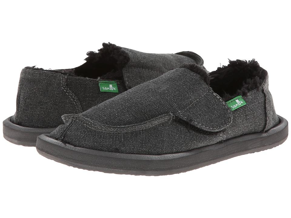 Sanuk Kids Vagabond Chill (Toddler/Little Kid) (Charcoal) Boys Shoes