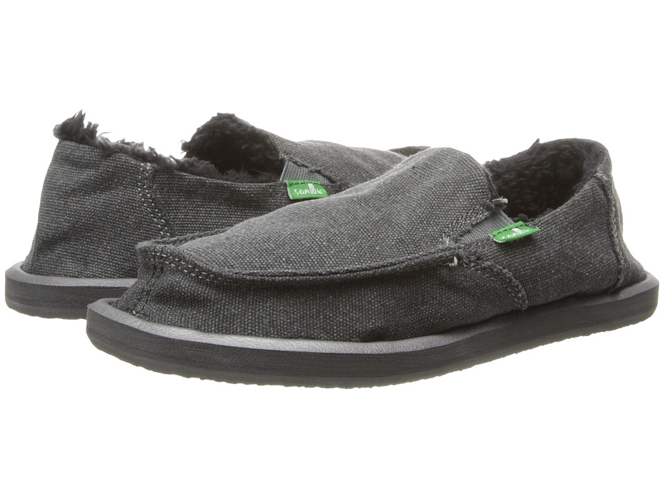 Sanuk Kids - Vagabond Chill (Little Kid/Big Kid) (Charcoal) Boys Shoes