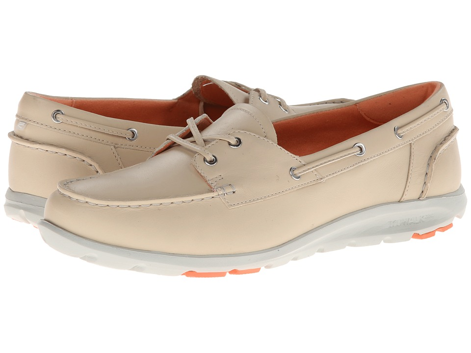 Rockport - TWZ II Boat Shoe (Bleached Sand) Women's Shoes