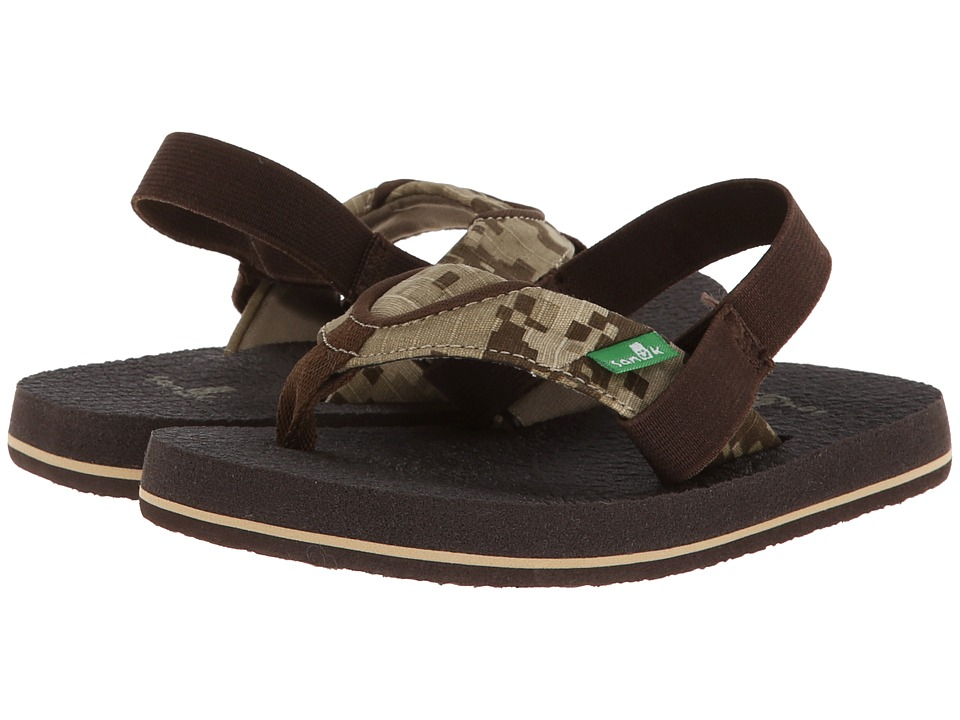 Sanuk Kids - Root Beer Cozy (Toddler/Little Kid) (Brown Digi Camo) Boys Shoes