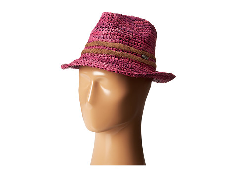 Roxy - Witching Raffia Straw Hat (Grape Wine) Traditional Hats