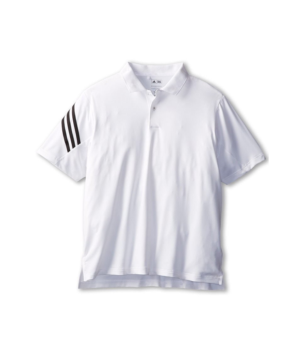 adidas Golf Kids - 3-Stripes Polo (Little Kids/Big Kids) (White) Boy's Short Sleeve Pullover