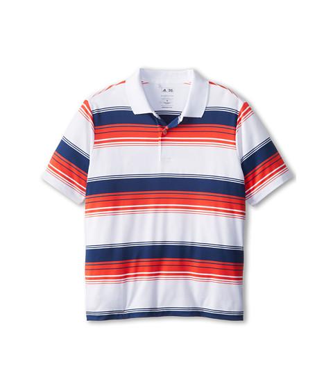 adidas Golf Kids - Performance Merch Stripe Polo (Little Kids/Big Kids) (White 1) Boy's Short Sleeve Pullover