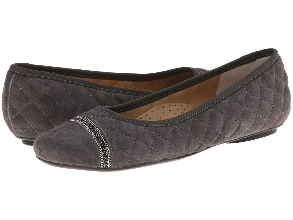 Vaneli - Sigrid (Dark Grey Suede/Mtch Elastic/Gunmetl Chains) Women's Slip on Shoes