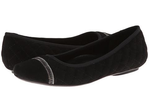 Vaneli - Sigrid (Black Suede/Mtch Elastic/Gunmetl Chains) Women's Slip on Shoes
