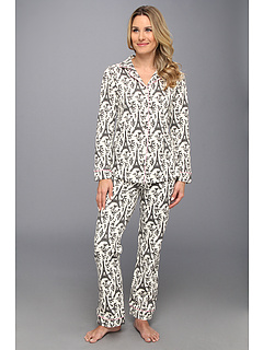 SALE! $64.99 - Save $75 on BedHead Classic Stretch PJ (Cream Black Eiffel) Apparel - 53.58% OFF $140.00