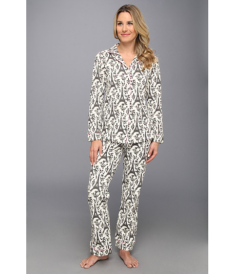 BedHead - Classic Stretch PJ (Cream/Black Eiffel) Women's Pajama Sets