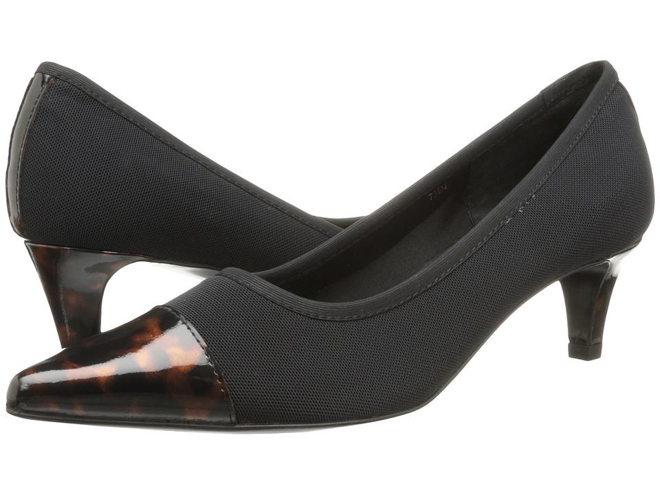 Vaneli - Taya (Black Nitry Stretch/Tort Sandra Loc Patent) Women's Shoes