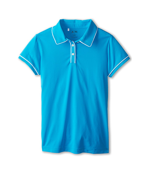 adidas Golf Kids - Performance Solid Piped Polo (Big Kids) (Light Blue) Girl