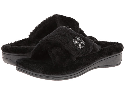 VIONIC with Orthaheel Technology - Relax Luxe Slipper (Black) Women's Shoes