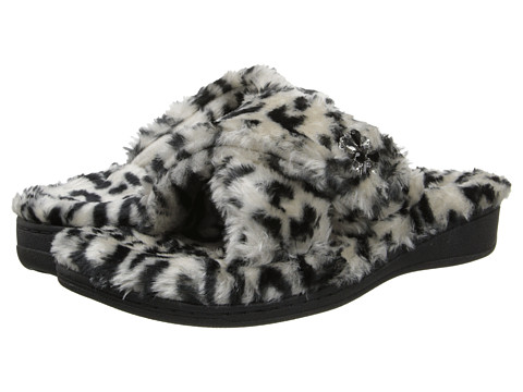 VIONIC - Relax Luxe Slipper (Grey Leopard) Women's Shoes