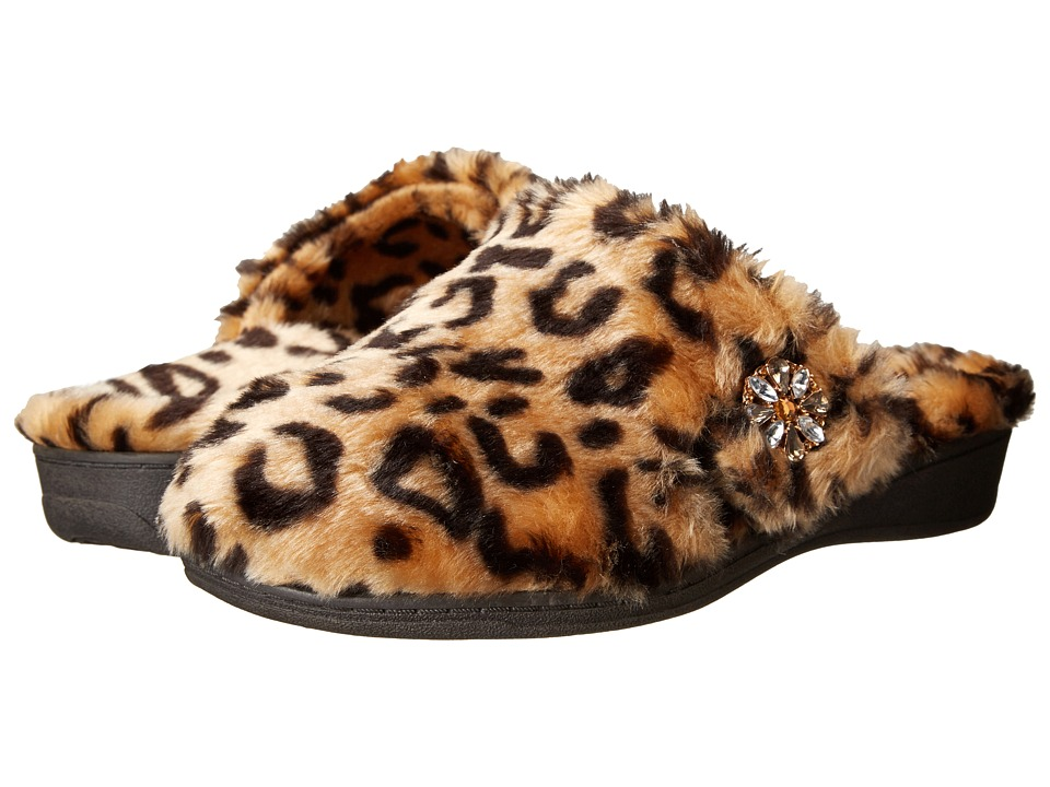 VIONIC - Gemma Luxe Slipper (Tan Leopard) Women's Slippers