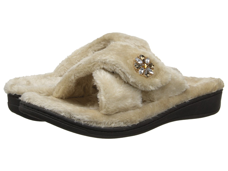 VIONIC with Orthaheel Technology - Relax Luxe Slipper (Taupe) Women's Shoes