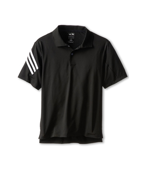 adidas Golf Kids - 3-Stripes Polo (Little Kids/Big Kids) (Black) Boy