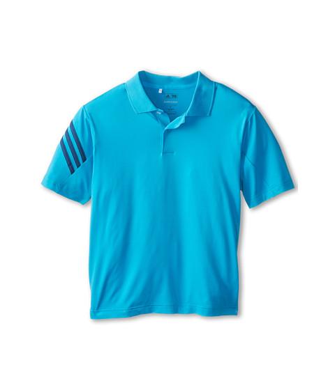 adidas Golf Kids - 3-Stripes Polo (Little Kids/Big Kids) (Light Blue) Boy