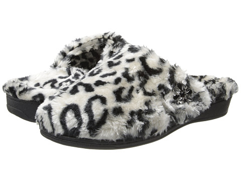 VIONIC - Gemma Luxe Slipper (Grey Leopard) Women's Slippers