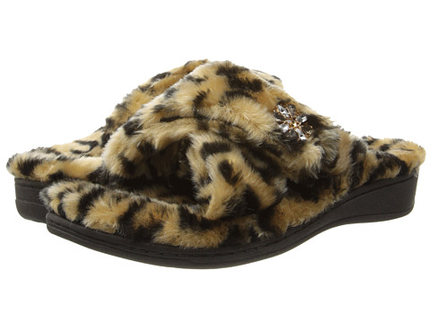 VIONIC with Orthaheel Technology - Relax Luxe Slipper (Tan Leopard) Women