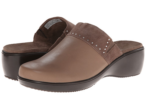 VIONIC with Orthaheel Technology - Esme Slide On Clog (Taupe) Women's Clog Shoes