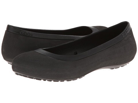 Crocs - Mammoth Leopard Lined Flat (Black/Black) Women