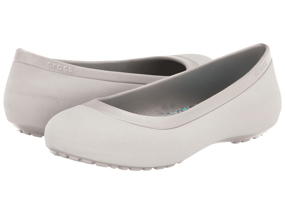 Crocs - Mammoth Leopard Lined Flat (Platinum/Platinum) Women's Shoes