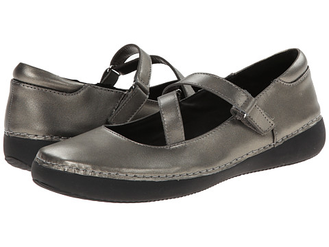 VIONIC with Orthaheel Technology - Judith Flat Mary Jane (Pewter) Women's Maryjane Shoes