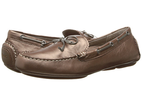 VIONIC with Orthaheel Technology - Anchor Flat Moccasin (Bronze Metallic) Women
