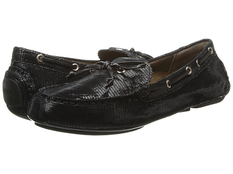 VIONIC with Orthaheel Technology - Anchor Flat Moccasin (Black Snake) Women