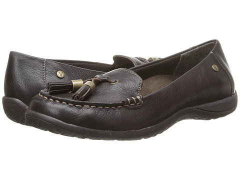 VIONIC with Orthaheel Technology - Abbie Flat Loafer (Dark Brown) Women's Slip on Shoes